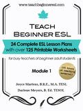 Teach Beginner ESL Complete Course Curriculum Bundle, Module 1