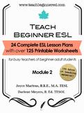 Teach Beginner ESL Complete Course Curriculum Bundle, Module 2