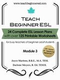 Teach Beginner ESL Complete Course Curriculum Bundle, Module 3
