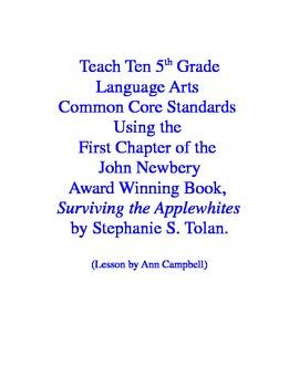 Teach CCSS Using Teacher Read-Aloud from Surviving the Applewhites