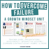 Teach about Overcoming Failure - Growth Mindset Unit [Midd