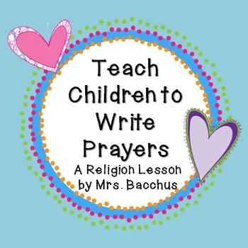 Teach Children How to Write a Prayer