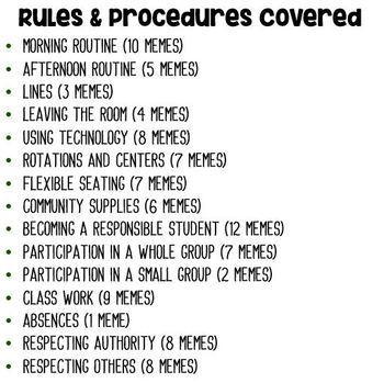 100 Classroom Rules Memes EDITABLE- Back to School Icebreaker Class Rules