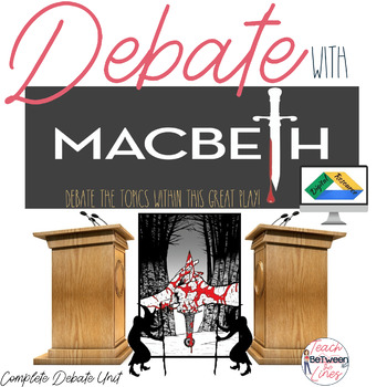 Macbeth: DEBATE-Lessons, Practice, Graphic Organizers- Digital and Printable!