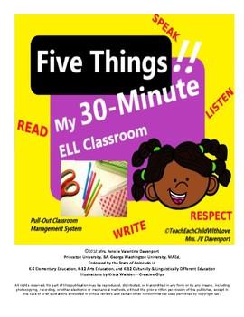 "My ""Five Things"" 30-Minute ELL/ESL Classroom"