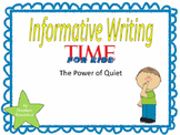 Teach Prompt Writing: Informative Essay Using Time for Kid