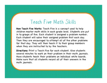 Teach Five Sample