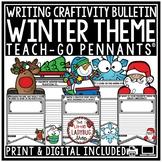 Digital Christmas & Winter Writing Prompts 3rd, 4th Grade Winter Bulletin Board