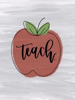 Teach. Graphic