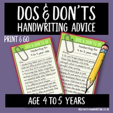 Dos and Don'ts 4 to 5 Years