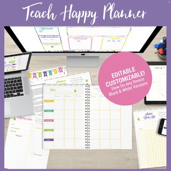 Editable Teacher Binder BUNDLE