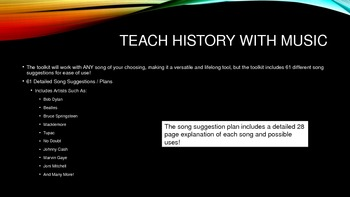 Teach History with Music: Toolkit - How to engage students in ANY history class!