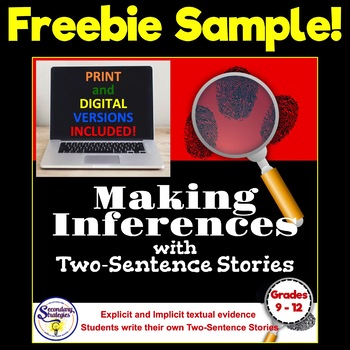 How to Infer or Make an Inference with Very Short Stories {FREEBIE SAMPLE}