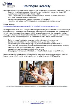 Teach ICT Capability in Foundation Literacy Lessons