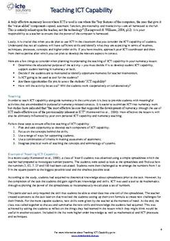 Teach ICT Capability in Year 2 Numeracy
