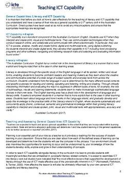 Teach ICT Capability in Year 3 Literacy