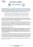 Teach ICT Capability in Year 3 Numeracy