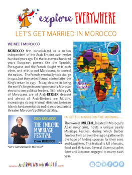 """Teach Kids About Africa – """"Get Married in Morocco"""" -- All Around This World"""