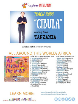 """Teach Kids About Africa -- Let's Chant """"Cibula"""" -- All Around This World"""