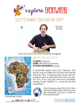 "Teach Kids About Africa -- Let's Sing ""Do Do Ki Do"" -- All Around This World"