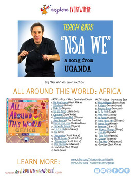 "Teach Kids About Africa -- Let's Sing ""Nsa We"" -- All Around This World"