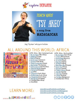 """Teach Kids About Africa -- Let's Sing """"Tsy Akeo"""" -- All Around This World"""