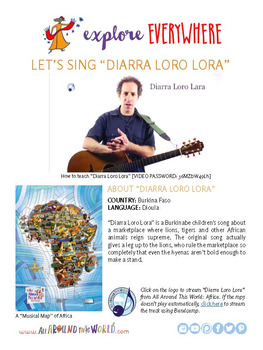 """Teach Kids About Africa by Singing """"Diarra Loro Lora"""" -- All Around This World"""
