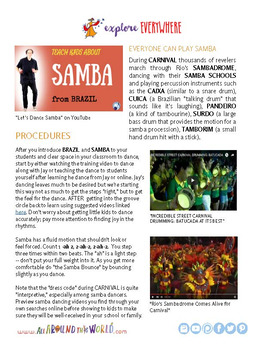 "Teach Kids About Brazil – ""Dance a Simple Samba"" -- All Around This World"