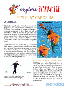 "Teach Kids About Brazil – ""Let's Play Capoeira"" -- All Around This World"