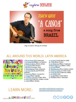 "Teach Kids About Brazil -- Let's Sing ""A Canoa"" -- All Around This World"