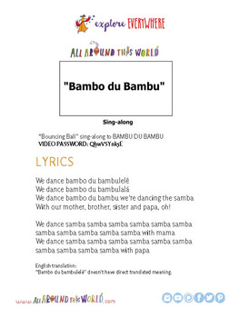 """Teach Kids About Brazil by Dancing to """"Bambo du Bambu"""" -- All Around This World"""