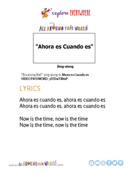 "Teach Kids About Cuba by Singing ""Ahora es Cuando es"" -- All Around This World"