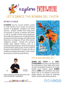"""Teach Kids About Ecuador – """"The Bottle-Balancing Bomba"""" -- All Around This World"""
