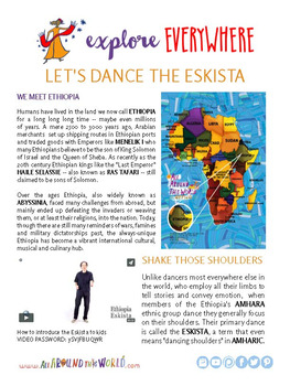 "Teach Kids About Ethiopia – ""Let's Dance the Eskista"" -- All Around This World"