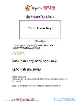 "Teach Kids About Ethiopia -- Let's Sing ""Nanu Ney"" -- All Around This World"