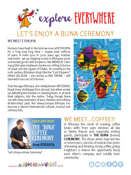 """Teach Kids About Ethiopia – """"The Buna Coffee Ceremony"""" -- All Around This World"""