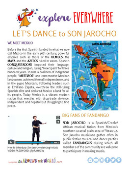 """Teach Kids About Mexico -- """"Son Jarocho Dancing"""" -- All Around This World"""