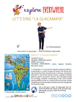 Teach Kids About Mexico -- Let's Sing La Guacamaya -- All Around This World