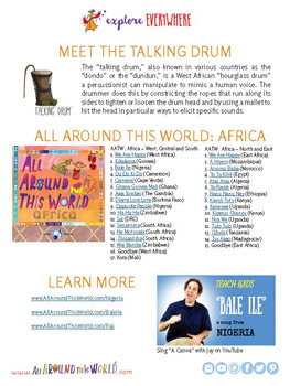 """Teach Kids About Nigeria -- Let's Sing """"Bale Ile"""" -- All Around This World"""