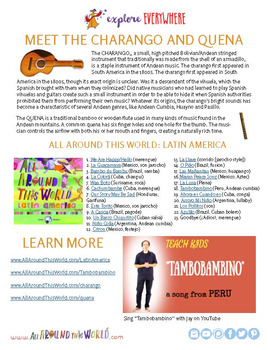 """Teach Kids About Peru -- Let's Sing """"Tambobambino"""" -- All Around This World"""