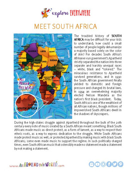 "Teach Kids About South Africa -- Let's Sing ""Senzenina"" -- All Around This World"