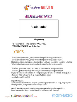 """Teach Kids About South Africa -- Let's Sing """"Tulo Tulo"""" -- All Around This World"""