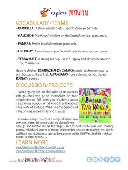 """Teach Kids About South America -- """"Uruguayan Gauchos"""" -- All Around This World"""