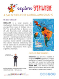 "Teach Kids About South America -- ""Uruguayan Gauchos"" -- A"
