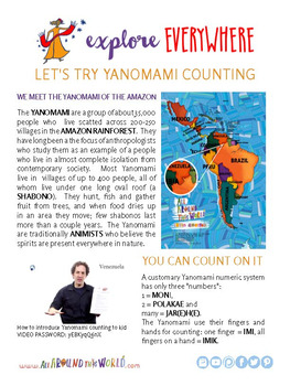"Teach Kids About South America – ""Yanomami Counting"" -- All Around This Worl"