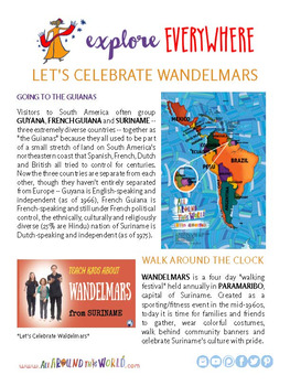 "Teach Kids About Suriname -- ""Celebrate Wandelmars"" -- All Around This World"