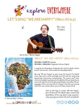 """Teach Kids About West Africa -- Sing """"We Are Happy"""" -- All Around This World"""