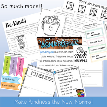 Teach Kindness Packet: School-Wide Initiatives, Class Lessons, Activites, & MORE