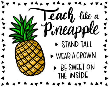 """Teach Like a Pineapple""- Colored Print {KT Creates}"