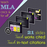 Teach MLA Once and For All